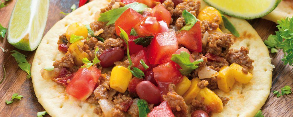 Τορτίγιες με chili con carne