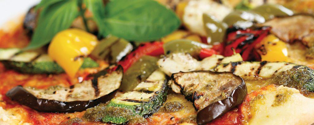 Πίτσα µε λαχανικά σχάρας