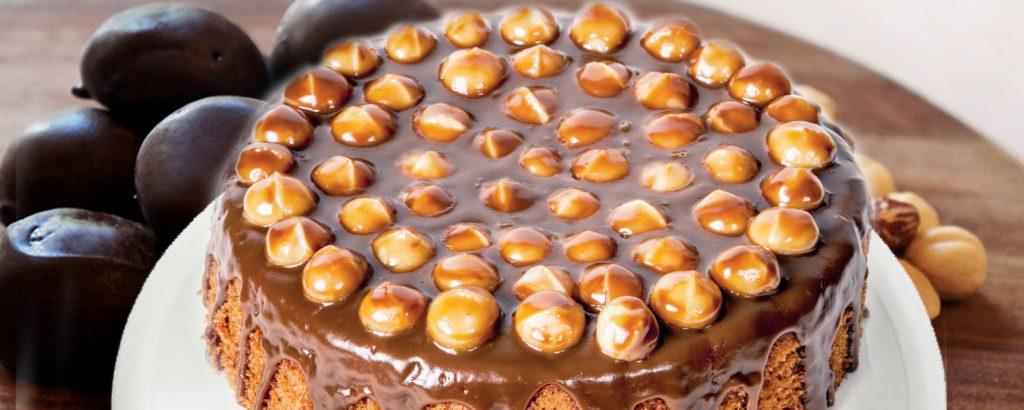 Παντεσπάνι με γλάσο σοκολάτας