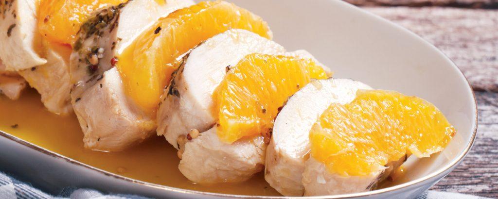 Κοτόπουλο με πορτοκάλι