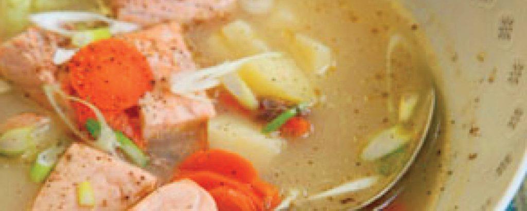 Ρωσική σούπα σολομού