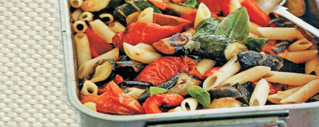 Πένες με ψητά λαχανικά