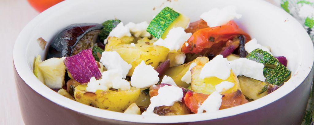 Σαγανάκι με λαχανικά και φέτα
