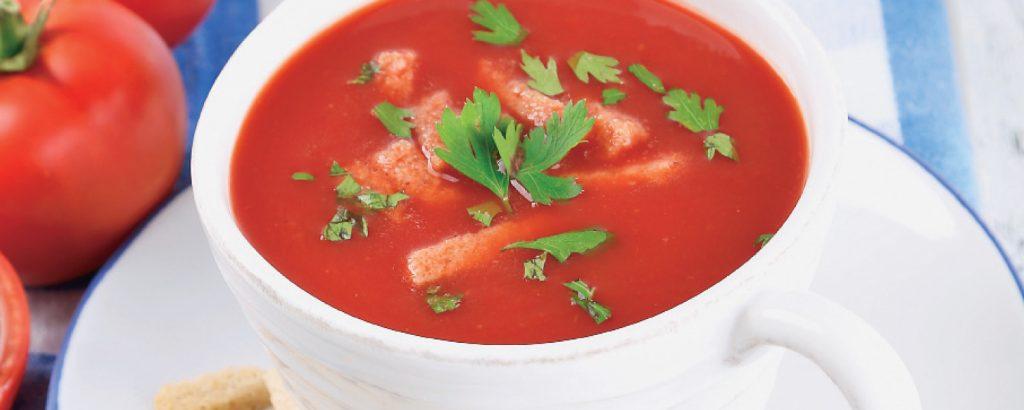 Ντοματόσουπα σε φλιτζάνι