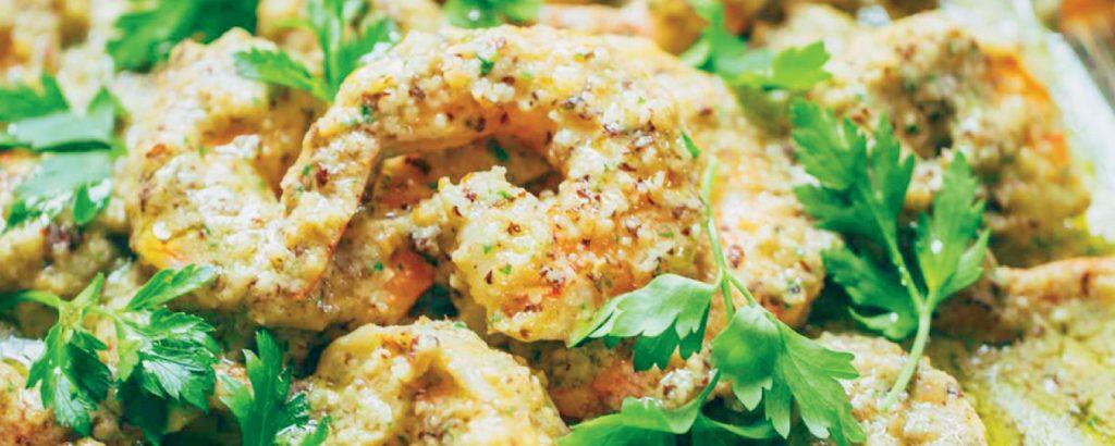 Ισπανικές γαρίδες με σάλτσα ψωμιού