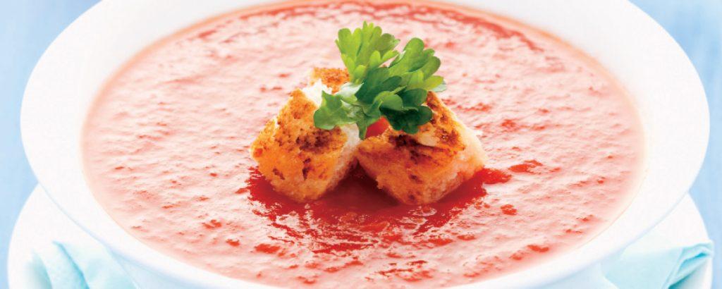 Ντοματόσουπα με ψητές ντομάτες