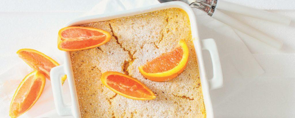 Πουτίγκα-λάβα πορτοκάλι