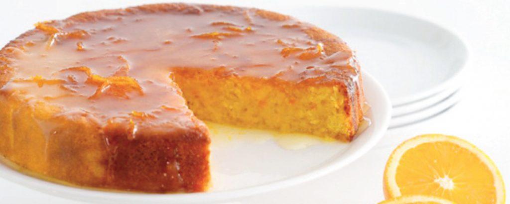 Τόρτε πορτοκάλι σιροπιαστή (Χωρίς αλεύρι)