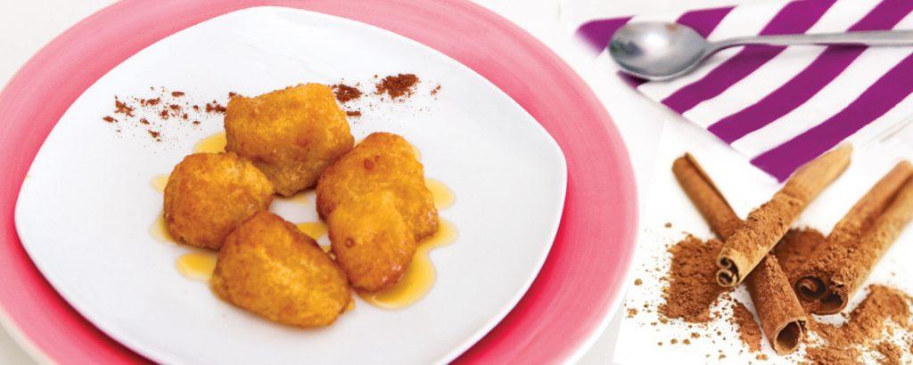 Τηγανιτός ανανάς με μέλι και κανέλα