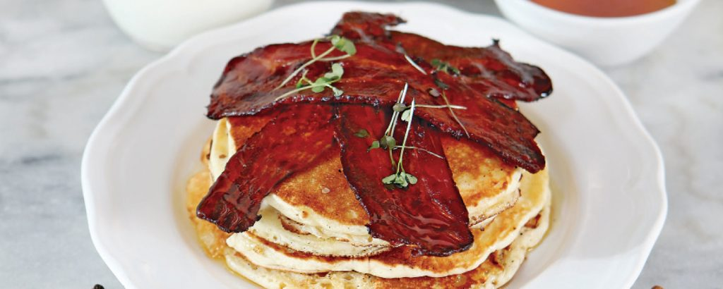 Pancakes με crispy bacon