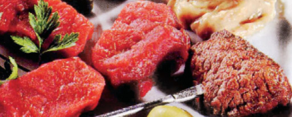 Φοντύ μπουργκινιόν (Fondue Bourguignonne)