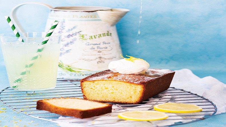 Κέικ λεμονιού με παγωτό