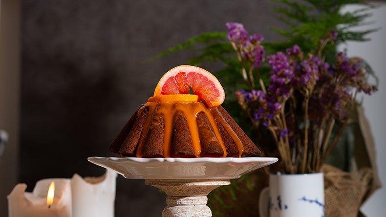 Kέικ με πορτοκάλι και γκρέιπφρουτ
