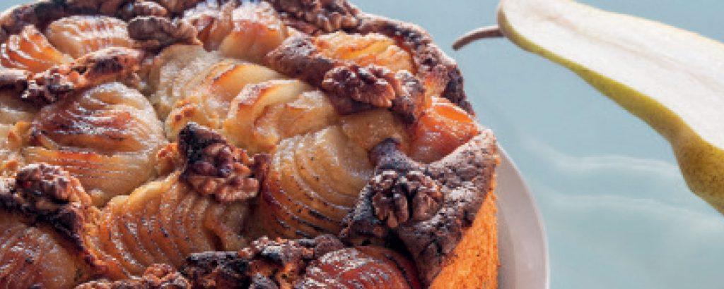 Κέικ με ροκφόρ και αχλάδια