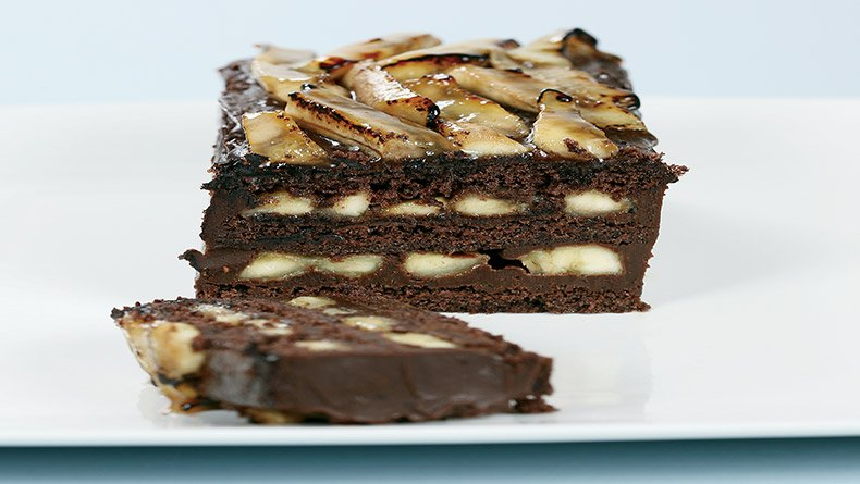 Κέικ σοκολάτα και µπανάνα