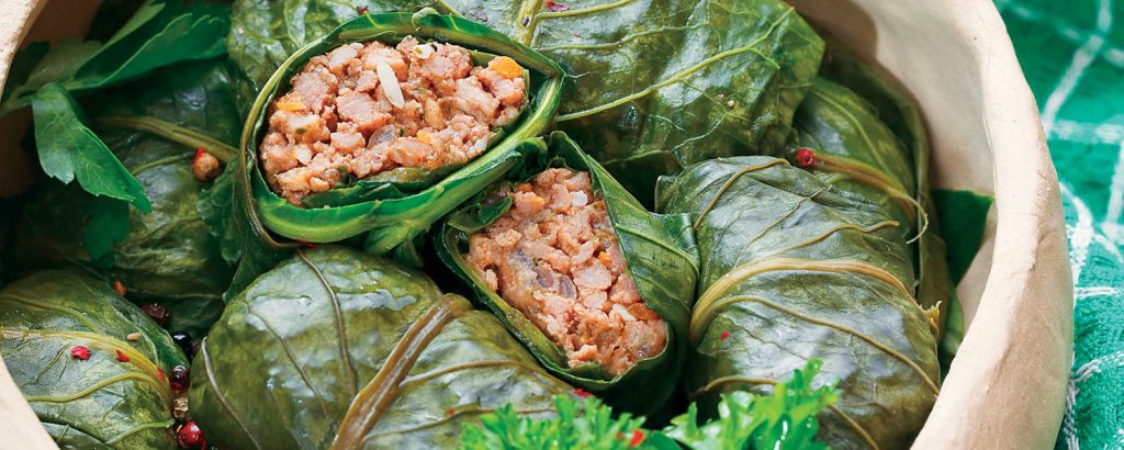 Ντολμαδάκια με λάχανα κυπριακά