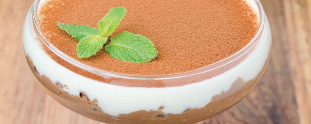 Διπλή κρέμα-μους σοκολάτας