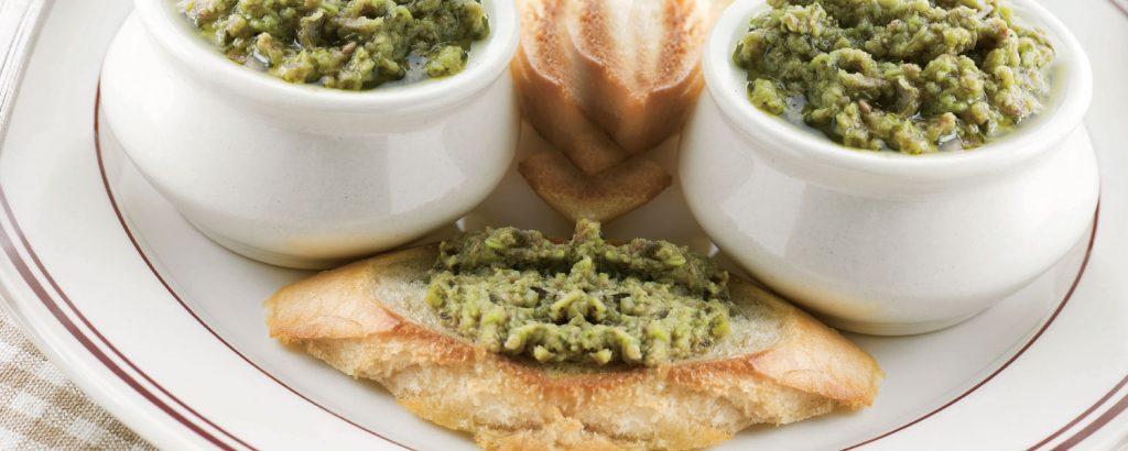 Ελιοσαλάτα πράσινη (Tapenade verte)