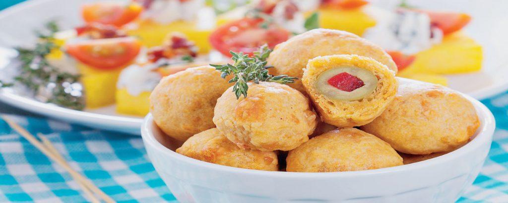 Γεμιστές ελιές με τυρί στο φούρνο
