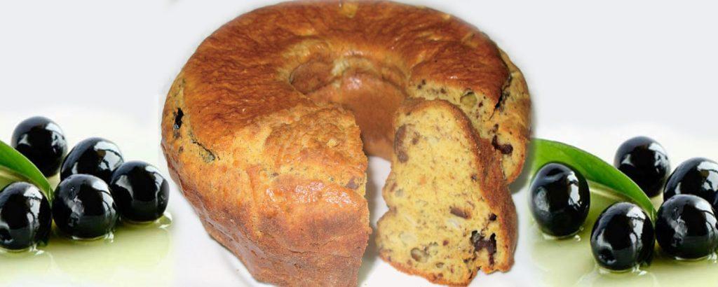 Αφράτο κέικ με ελιές
