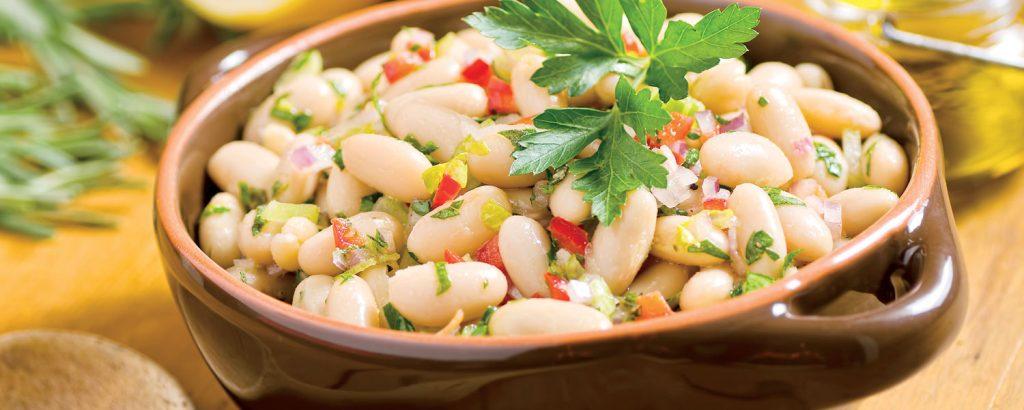 Φασόλια βραστά σαλάτα