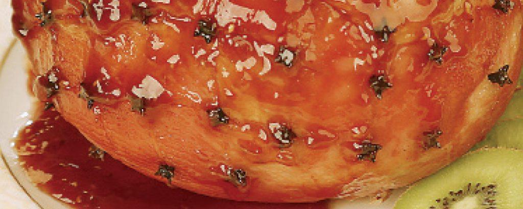 Gammon με γλάσο πορτοκάλι