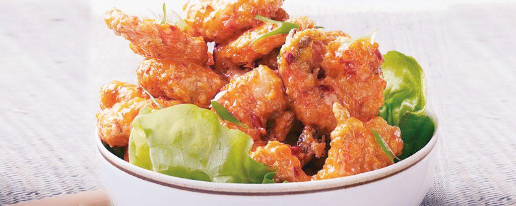 Πικάντικες τηγανητές γαρίδες
