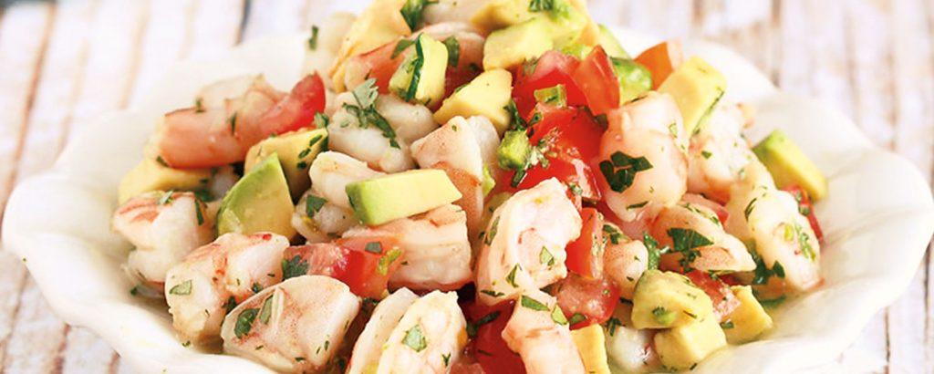 Μεξικάνικη σαλάτα µε γαρίδες