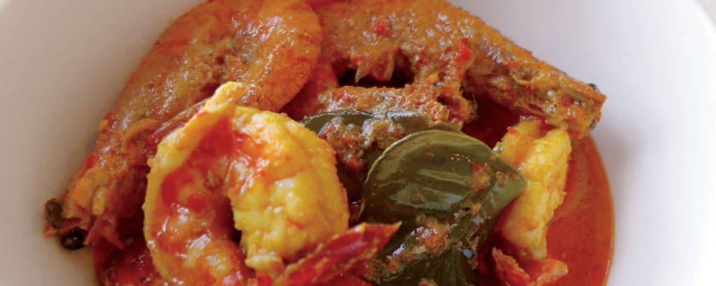 Γαρίδες με red curry