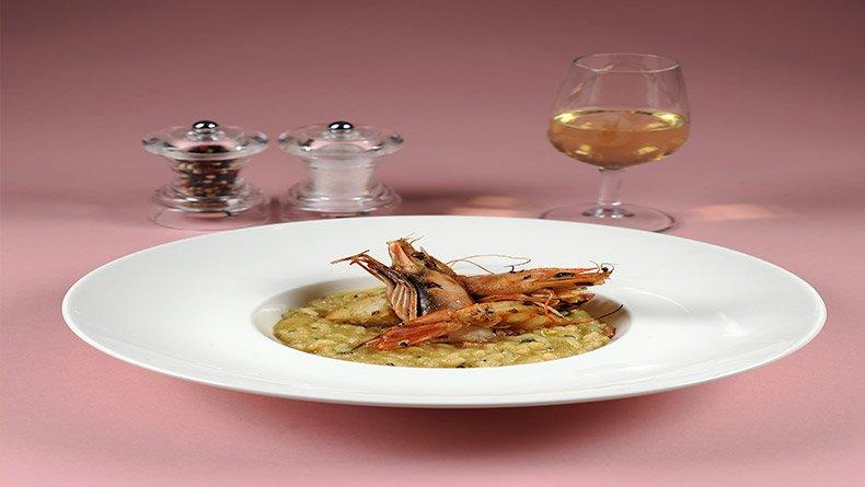 Γαρίδες με ριζότο