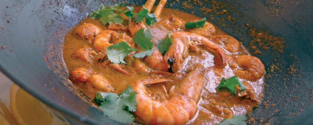 Κόκκινο κάρι με γαρίδες -Ταϊλάνδη