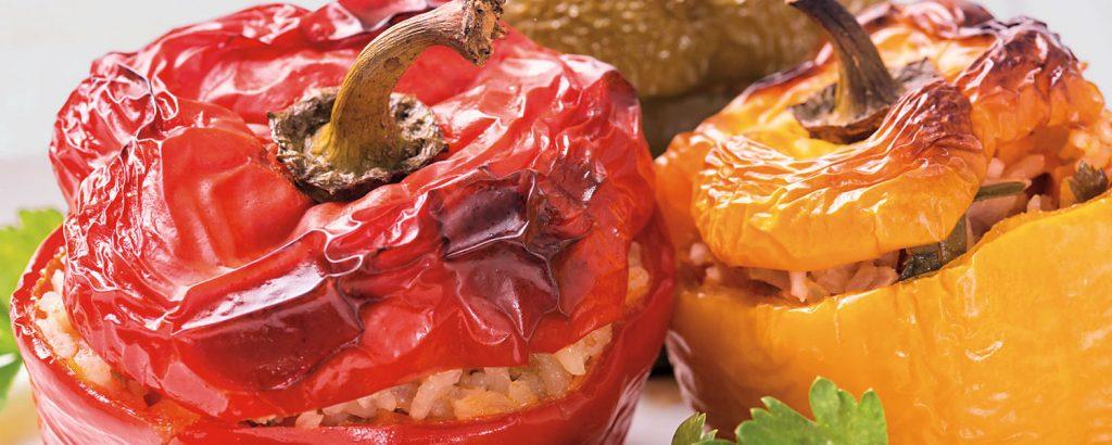 Ελαφριές γεµιστές πιπεριές