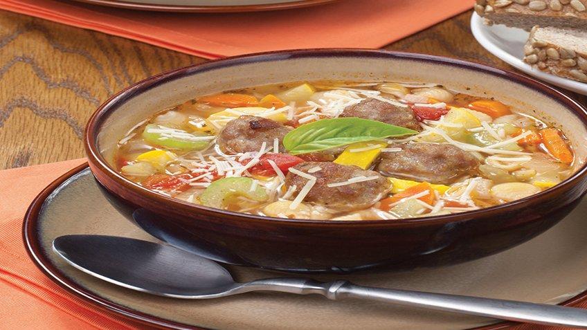 Ιταλικά κεφτεδάκια σούπα