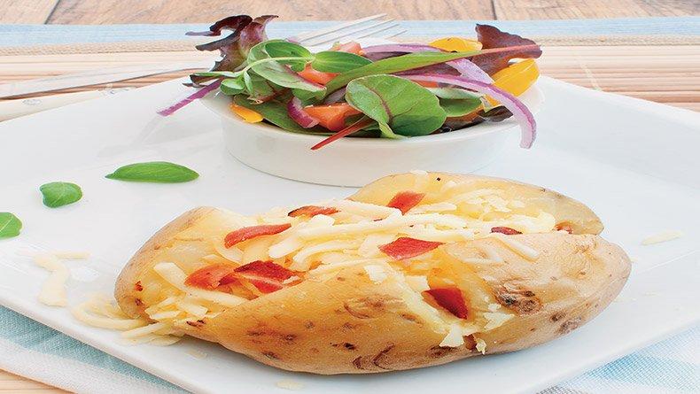 Jacket πατάτες με μπέικον και τυρί