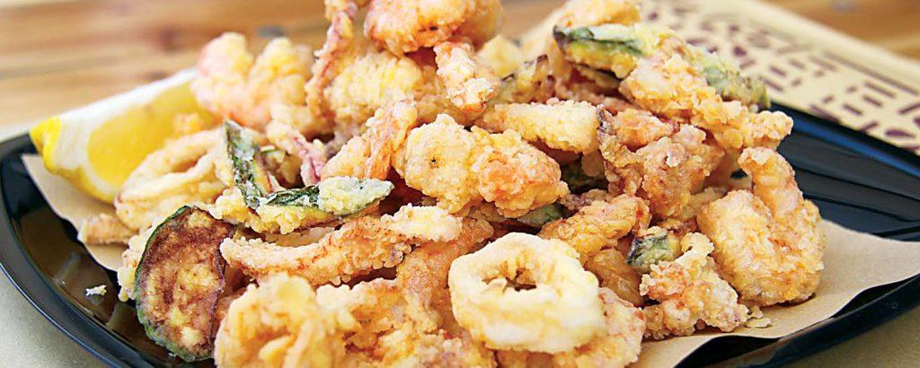 Ιταλικό φρίτο µίστο (Ανάµικτα ιταλικά ψαρικά και λαχανικά)