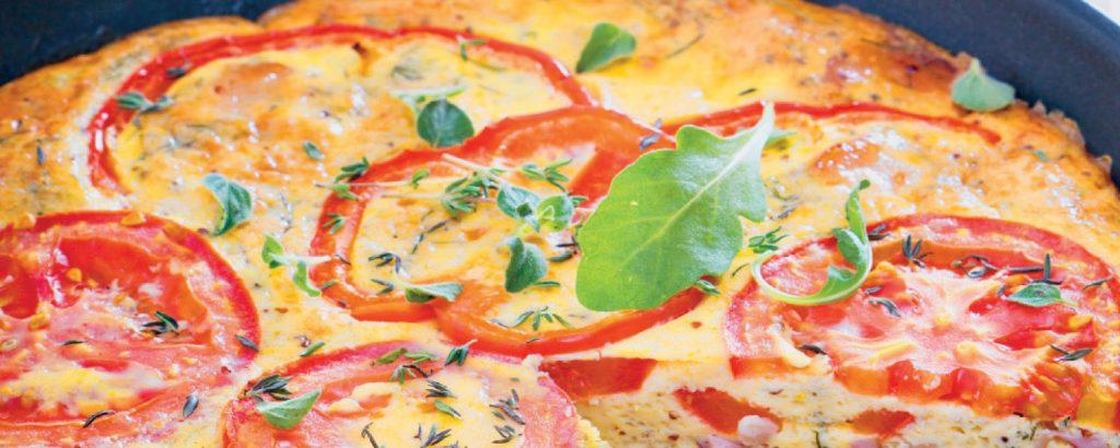Κλαφουτί με ζαμπόν και λαχανικά