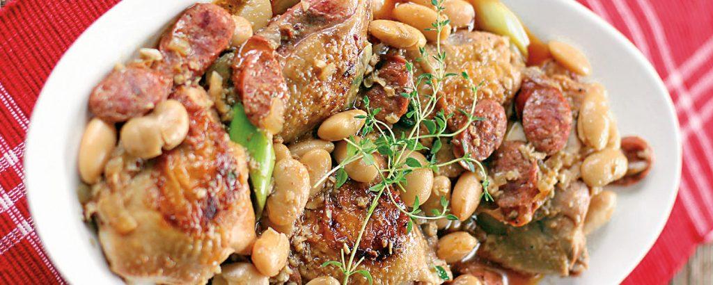 Φασολάδα ισπανική με κοτόπουλο και λουκάνικο