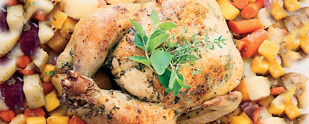 Κοτόπουλο στο φούρνο µε λαχανικά