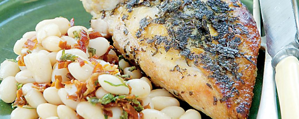 Ιταλικό κοτόπουλο με φασόλια