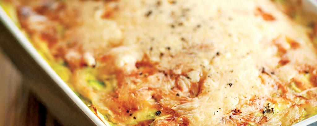 Κολοκυθάκια µε τυρί και ζαµπόν