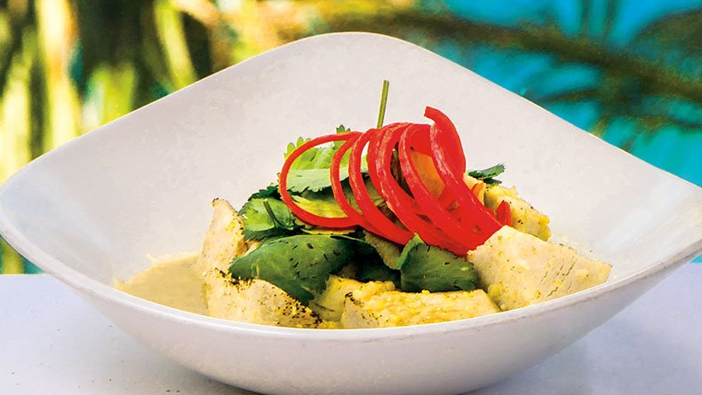 Κολοκάσι µε πράσινο κάρι (Green Curry)