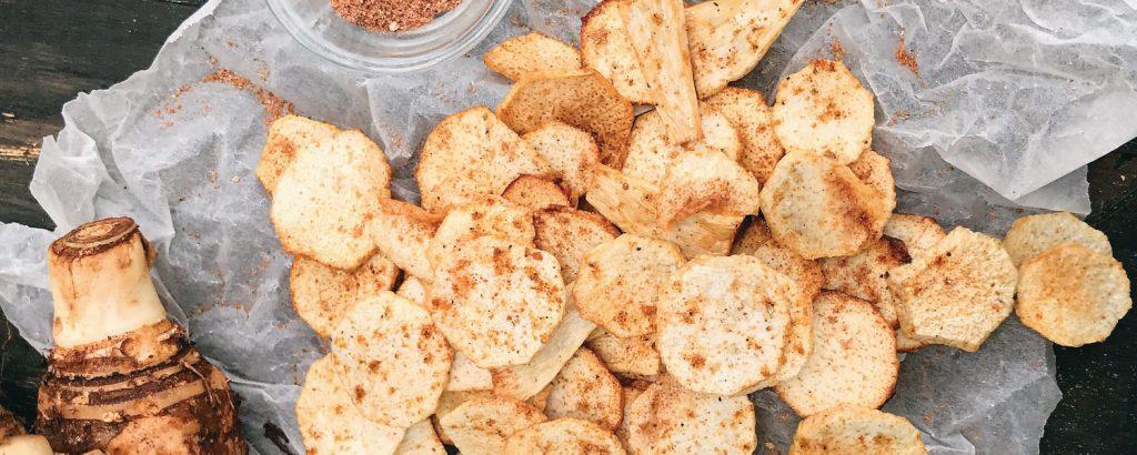 Πικάντικα chips από κολοκάσι