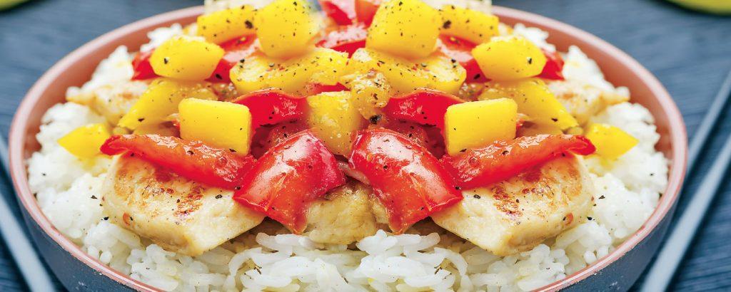 Κοτόπουλο stir-fry με μάνγκο