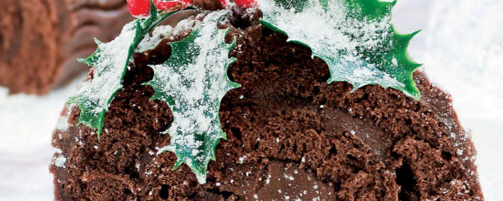 Κορμός Χριστουγέννων όλο σοκολάτα