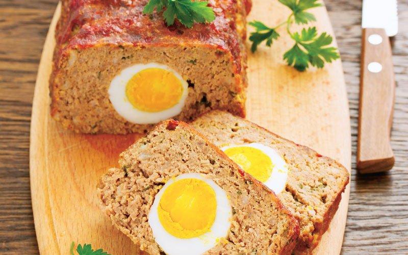 Κορμός κιμά με αυγό