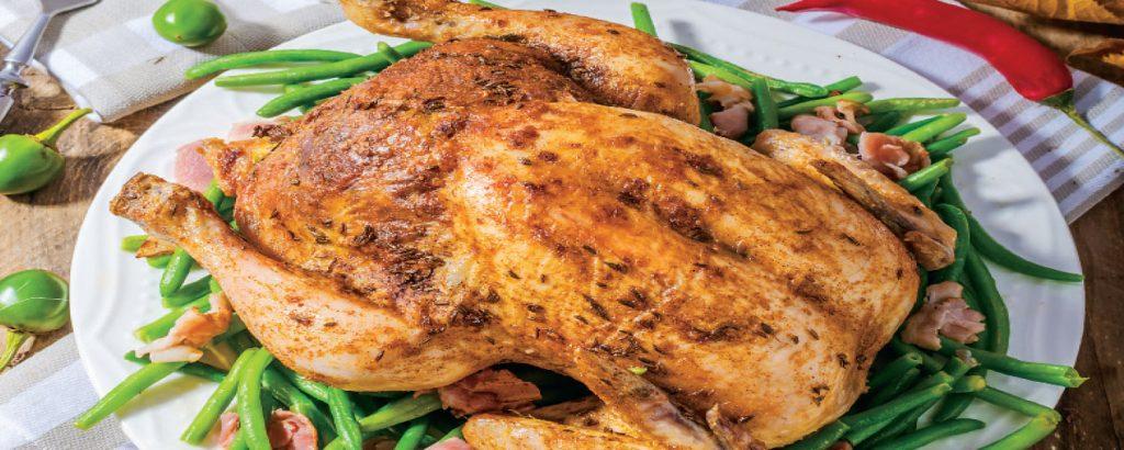 Κοτόπουλο γεμιστό με μανιτάρια