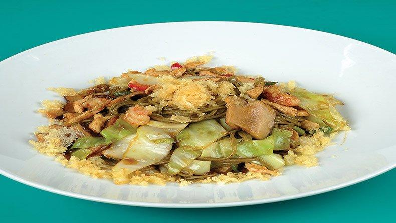 Κοτόπουλο µε λάχανο και γαρίδες