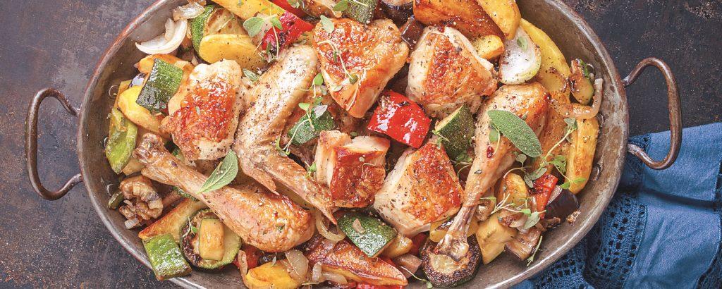 Κοτόπουλο ριγανάτο  με λαχανικά