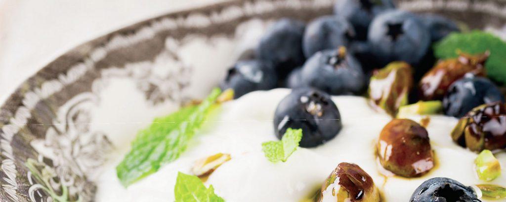 Κρέμα με blueberries και φιστίκια