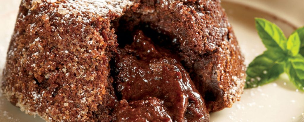 Κέικ-σουφλέ λάβα με φουντούκι